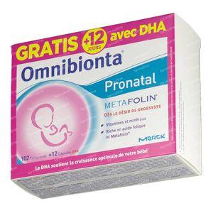 Omnibionta Pronatal Metafolin + 12 Dagen DHA GRATIS 90+12 capsules