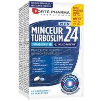 Forté Pharma Turboslim 24 Men Dag & Nacht Duopack 2x28  tabletten