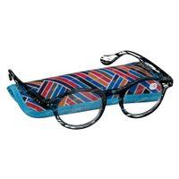 Pharma Glasses Leesbril Milano Blauw/Zwart +3.50 1 st