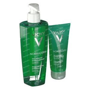 Vichy Normaderm Purifying Cleansing Gel 400+100 ml FREE 400+100 ml