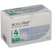 Accu-Fine Naald 0,23x4 mm 32g 100 st