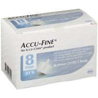 Accu Fine Aiguille 0.25x8 mm 31g 100 st