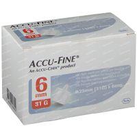 Accu Fine Aiguille 0.25x6 mm 31g 100 st