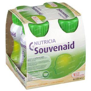 Nutricia Souvenaid Vanille Nieuwe Formule 4x125 ml