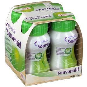 Nutricia Souvenaid Vanille Nouvelle formule 4x125 ml