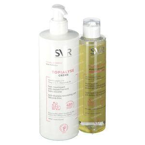 SVR Topialyse Crème Émolliente + Huile de Lavage 400 + 200 ml