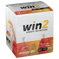 Win2 Energy Gel Aardbei - Kiwi 18x40 g