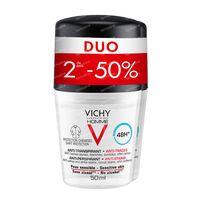 Vichy Homme Deodorant Anti-Transpiratie Anti-Witte en Gele Vlekken 48h Duo 2x50 ml roller