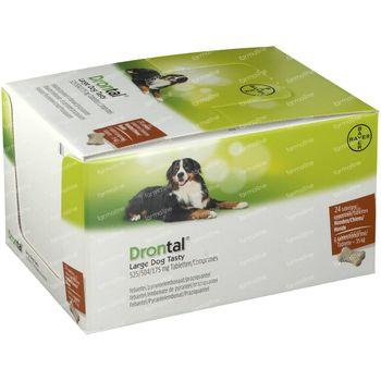 Drontal Large Dog Tasty 525/504/175mg 24 comprimés