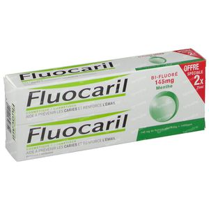 Fluocaril Toothpaste Bi-Fluoré 145 Mint Reduced Price 2 x 75 ml