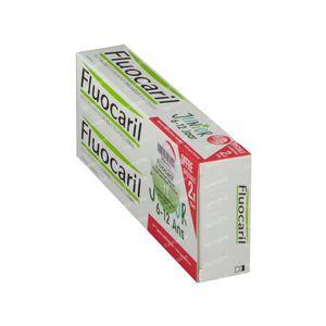 Fluocaril Dentifrice Junior Fruits Rouges Prix Réduit 2 x 75 ml