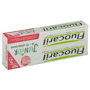 Fluocaril Toothpaste Junior Red Fruits Reduced Price 2 x 75 ml