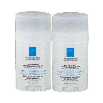 La Roche-Posay Physiologischen Deodorant 24h Stick Duo 2nd At -50% 2x40 g stick à bille