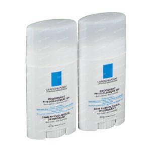 La Roche Posay Fysiologisch Deodorant 24h Stick Duo 2de Aan -50% 2x40 g
