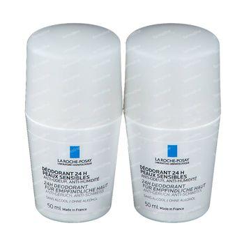 La Roche-Posay Fysiologische Deodorant 24h DUO Verlaagde Prijs 2x40 g roller