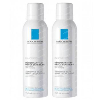 La Roche-Posay Deodorant Gevoelige Huid 48h DUO Verlaagde Prijs 2x150 ml spray