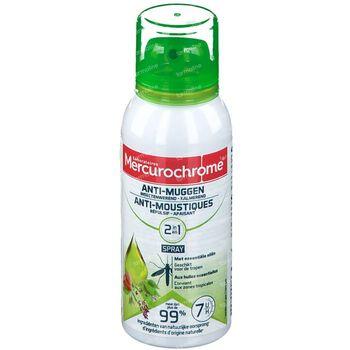 Mercurochrome Spray Anti-Moustique 2-en-1 aux Huiles Essentielles 100 ml