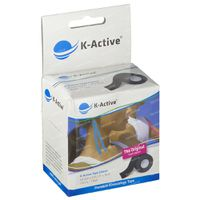Naqi K-Active Tape Classic 5cmx5m Zwart 1 st