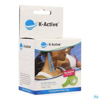 Naqi K-Active Tape Classic 5cmx5m Groen 1 stuk