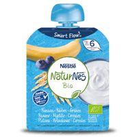 Nestlé NaturNes Bio Yoghurt Banaan - Bosbes - Granen 6 Maanden 90 g