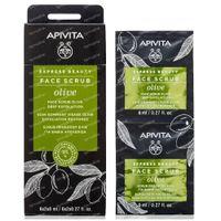 Apivita Beauty Express Intensief Reinigende Exfoliërende Crème met Olijf 2x8 ml