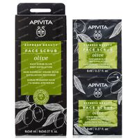 Apivita Beauty Express Intensive Exfoliating Cream with Olive 2x8 ml