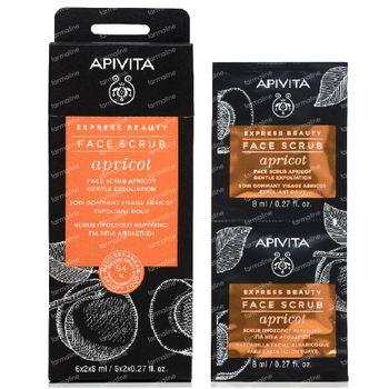Apivita Beauty Express Gel Doux Exfoliant à l'Abricot 2x8 ml