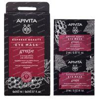 Apivita Beauty Express Anti-Wrinkle Eye Mask with Grape 2x2 ml