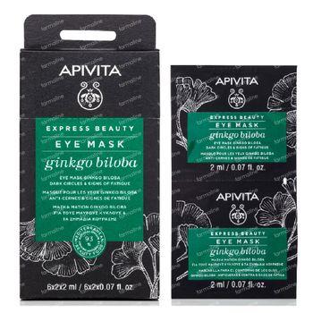 Apivita Beauty Express Oogmasker tegen Donkere Kringen & Wallen met Gingko Biloba 2x2 ml