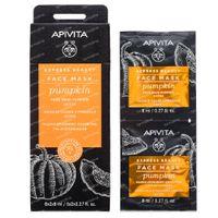 Apivita Express Beauty Face Mask Pumpkin Detox 2x8 ml