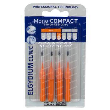 Elgydium Clinic Mono COMPACT Brosse Interdentaire 1,2 mm Orange 4 pièces