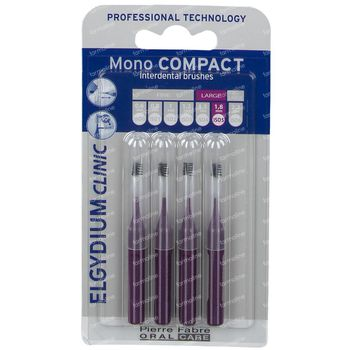 Elgydium Clinic Mono COMPACT Brosse Interdentaire Large 1,8mm Violet 4 pièces