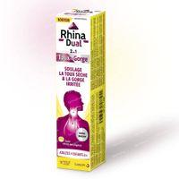Rhina Dual Toux + Gorge - Toux Sèche & Gorge Irritée 18  comprimés à sucer