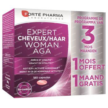 Forté Pharma Expert Cheveux Femme AGA 2+1 Moins GRATUIT 120+60 capsules