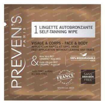 Preven's Lingettes Autobronzantes 1 pièce