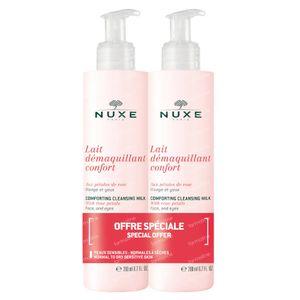 Nuxe Comfortabele Reinigingsmelk met Rozenblaadjes DUO 2x200 ml