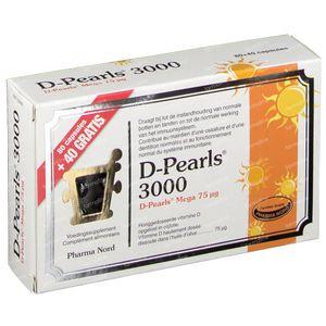 Pharma Nord D-Pearls 3000 +40 Capsules GRATIS 80+40 capsules