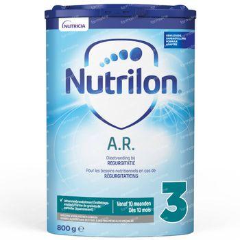 Nutrilon A.R. 3 Lait de Suite en Poudre (à partir de 10 mois) 800 g