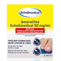 Scholl Pharma Amorolfine Schollmedical 50 mg/ml 2.5 ml
