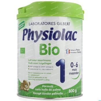 Physiolac Bio 1 Nieuwe Formule 800 g poeder