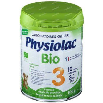 Physiolac Bio 3 Nouvelle Formule 800 g poudre
