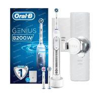 Oral B Genius 8200W Elektrische Tandenborstel Zilver 1  set