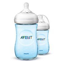 Avent Natural 2.0 Naturnah-Sauger Blau SCF035/27 DUO 2x260 ml