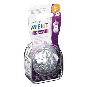 Avent Natural 2.0 Tétine 4 Trous SCF044/27 1 pièce