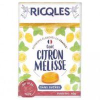 Ricqles Snoepjes Citroen Melisse zonder Suiker 40 g