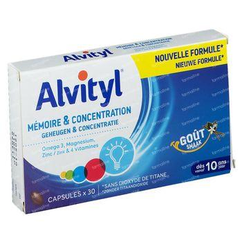 Alvityl Mémoire et Concentration Nouvelle Formule 30 capsules