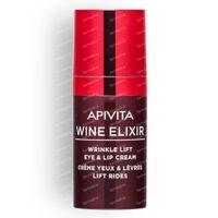 Apivita Wine Elixir Anti-Falten Augenkontur- und Lippencreme 15 ml