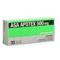 ASA Apotex 500mg 30  tabletten