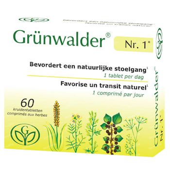 Grünwalder Nr. 1 Natuurlijke Stoelgang 60 tabletten
