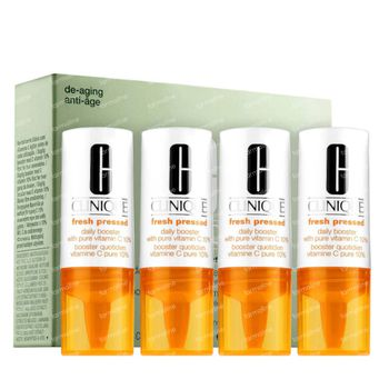 Clinique Fresh Pressed Daily Booster with Pure Vitamin C 10% 4x8 ml